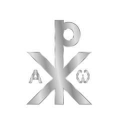 Chrismon sign icon on white vector