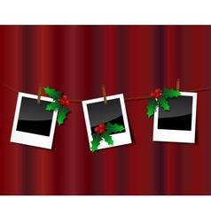 Christmas photo scrapebook vector image