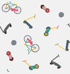 City transportation active seamless pattern vector