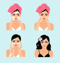 Clean beauty routine vector