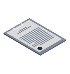 Clipboard icon isometric style vector