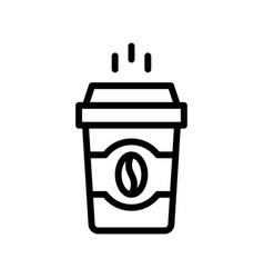 Coffee to go beverage line style icon vector
