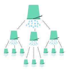 Concept of ice bucket challenge vector