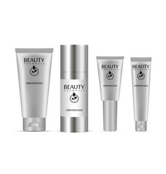 cosmetic tubes set vector image
