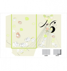 decorative folder vector image vector image