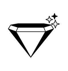diamond silhouette isolated icon vector image