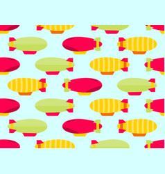 dirigible seamless pattern colorful airships vector image