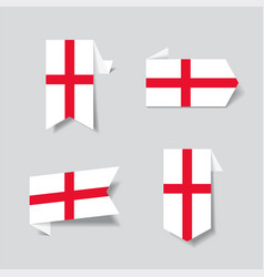 english flag stickers and labels vector image