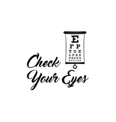 Eye test chart optometrist check eye diagnostic vector