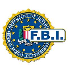 Fbi seal mockup vector