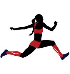 female athlete triple jump vector image