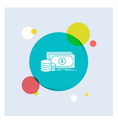 finance investment payment money dollar white vector image