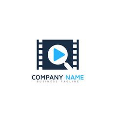 find video logo icon design vector image