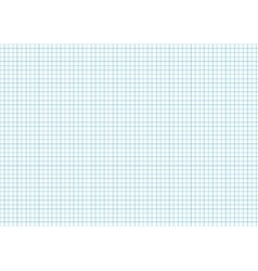 Five millimeters cyan grid on a4 horizontal sheet vector