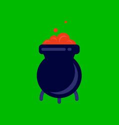 Flat icon stylish background cauldron witches vector