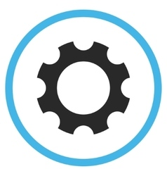 Gear Flat Rounded Icon vector image