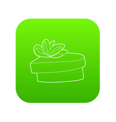 gift icon green vector image