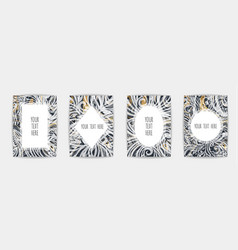 gold black white marble template trendy pattern vector image
