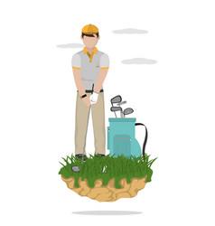 golf player cartoon vector image
