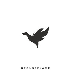 Grouse flame template vector