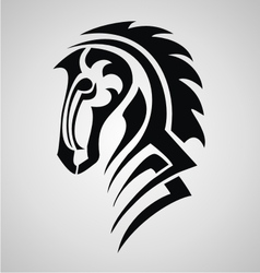 horse tattoo design vector image
