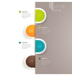 Infographics elements with options and vector