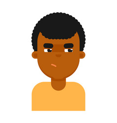 insidious facial expression of black boy avatar vector image