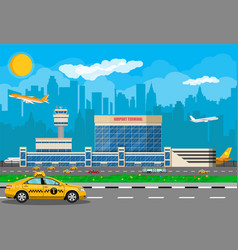 international airport concept vector image