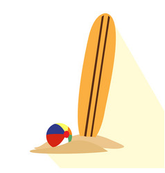isolated surfboard icon vector image