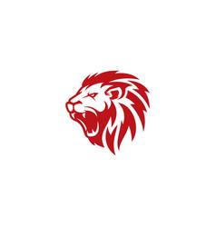 lion head logo design template vector image
