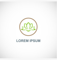 lotus flower spa logo vector image