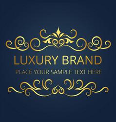 Luxury brand vintage gold logo template design vec vector