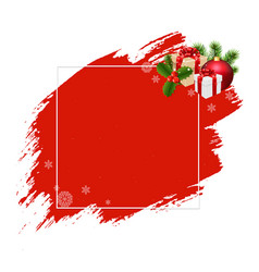 merry christmas banner red blobs vector image