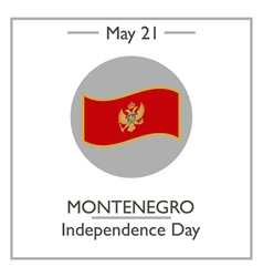 Montenegro Independence Day vector image vector image