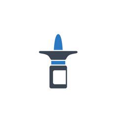 nasal spray related glyph icon vector image