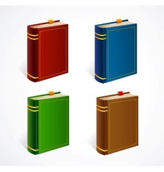 Old book icon set vector