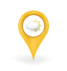 Partly Cloudy Location vector image