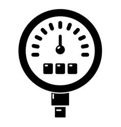 Pressure meter icon simple black style vector