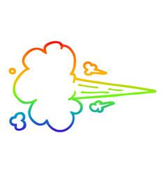 Rainbow gradient line drawing cartoon whooshing vector