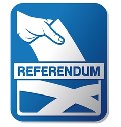 Scottish independence referendum vector image