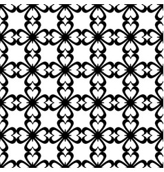 seamless pattern black and white repeating love vector image