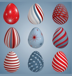 set of colourful easter eggs vector image
