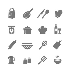 Set of kitchen and cooking icons vector image