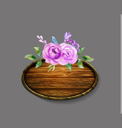 set of the floral arrangements vector image