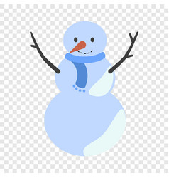snow man icon flat style vector image