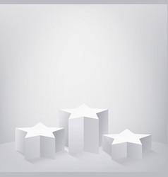 star shaped pedestal template vector image