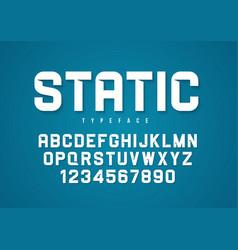 Static decorative bold font design vector