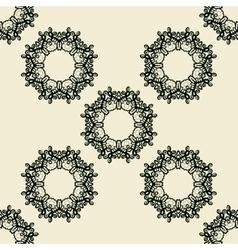 Stylized ornate seamless diagonal wallpaper vector
