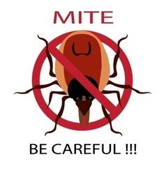 Symbol parasite warning sign Ticks be careful vector image