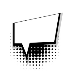 Template comic speech square simple bubble vector image